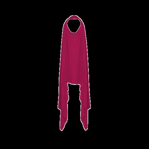 KUSHIES Peekaboob 竹棉授乳餵奶圍巾 紫紅色