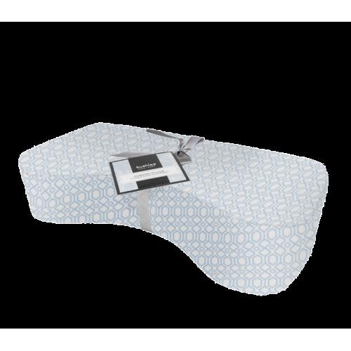 KUSHIES 護理授乳枕 粉藍菱形